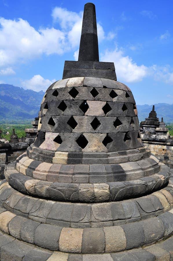 O templo de Borobudur é um destino do turista em Ásia - Indonésia foto de stock