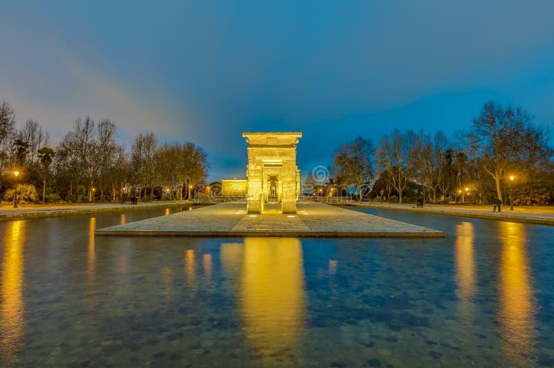 O templo de Debod no Madri, Espanha fotografia de stock royalty free
