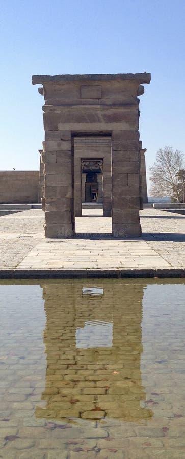 O Templo de Dobod, dirige de Egito ao Madri, Espanha fotos de stock