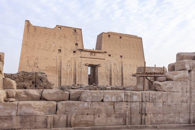 O templo de Edfu fotografia de stock
