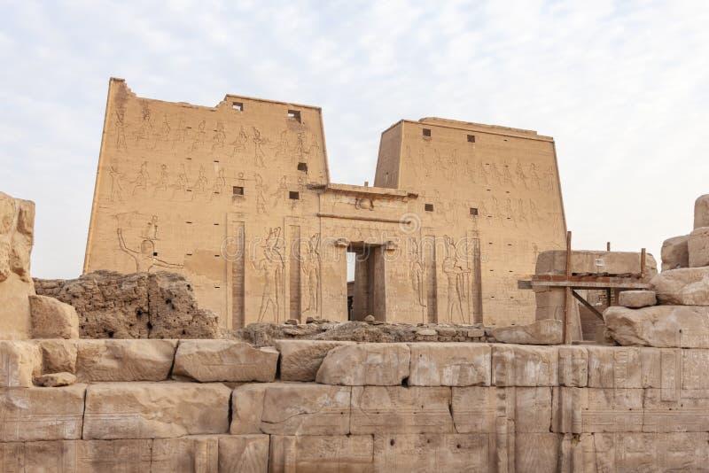 O templo de Edfu foto de stock royalty free