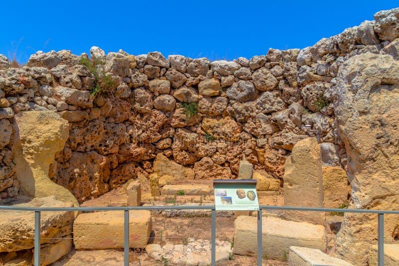 O templo de Ggantija permanece imagens de stock