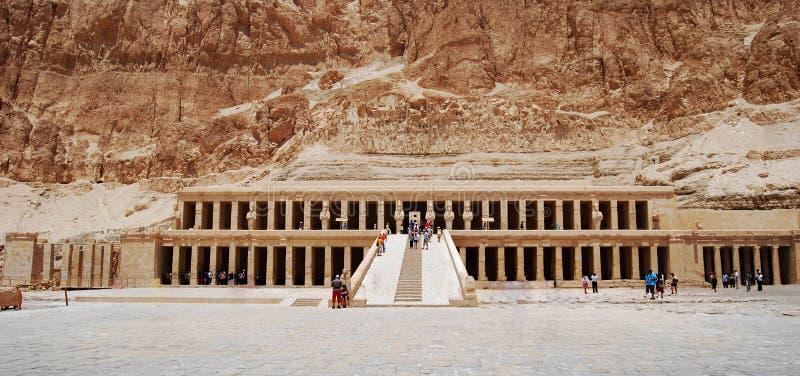 O templo de Hatshepsut, vale dos reis, Egito da morgue fotografia de stock royalty free