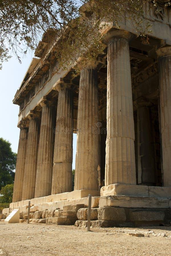 O templo de Hephaestus imagem de stock royalty free