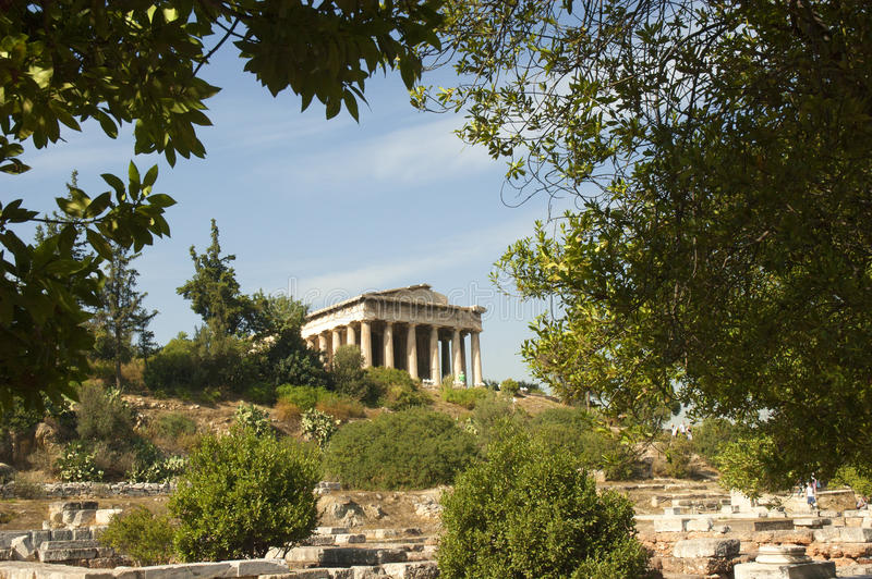 O templo de Hephaestus fotografia de stock