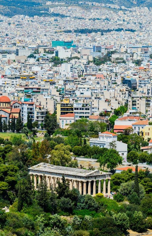 O templo de Hephaestus em Atenas foto de stock