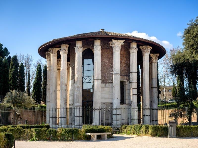 O templo de Hercules Victor na área do fórum Boarium, fotos de stock royalty free