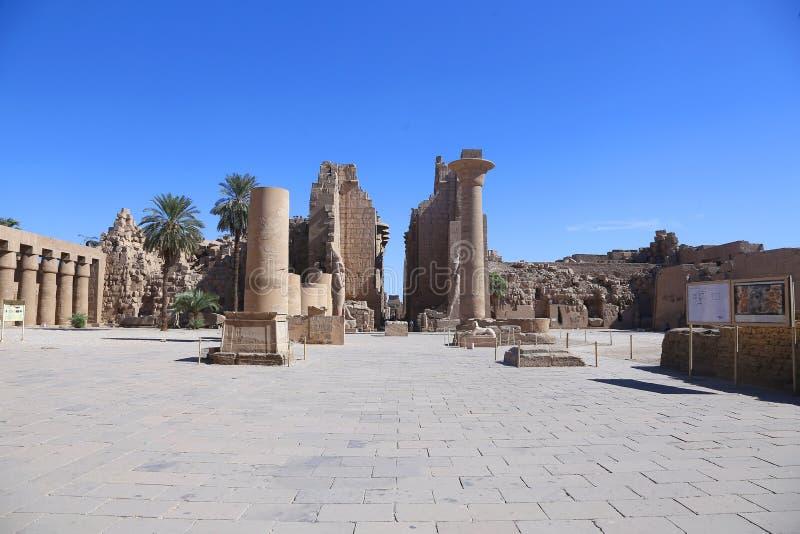 O templo de Karnak imagens de stock