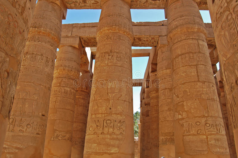 O templo de Karnak, Egipto fotos de stock