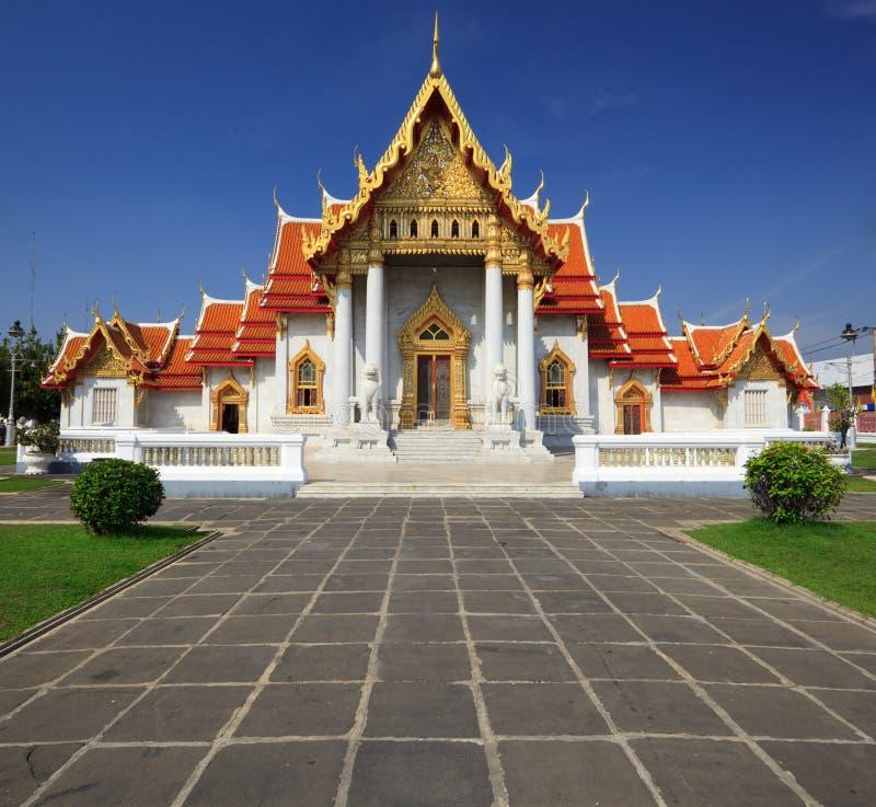 O templo de mármore, Banguecoque, Tailândia foto de stock