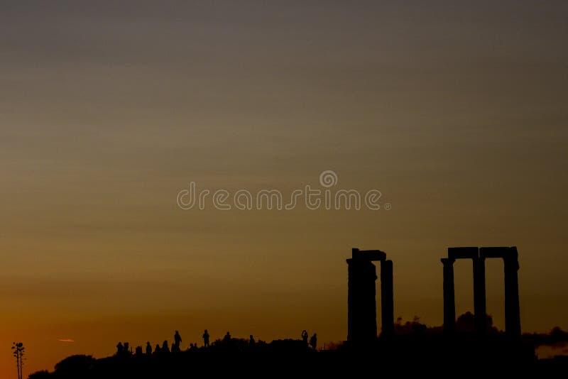 O templo de Poseidon, cabo Sounio, Atenas, Grécia fotografia de stock royalty free