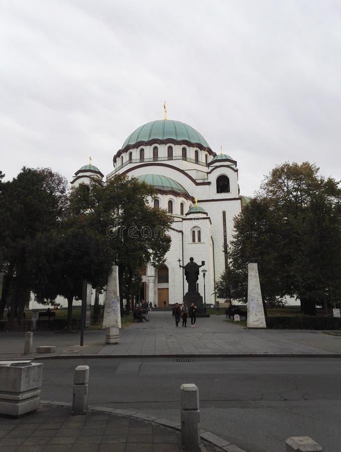 O templo de Saint Sava, Belgrado fotografia de stock