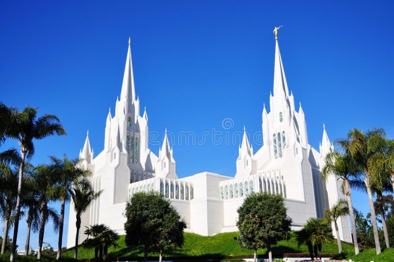 O templo de San Diego do Mormon imagem de stock royalty free