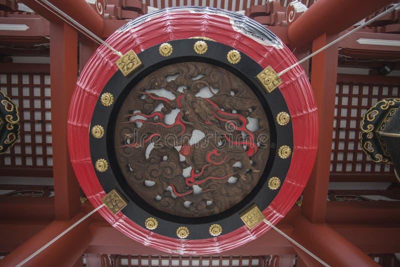 O templo de Senso-ji em Asakusa, Tóquio, Japão A palavra significa Kob imagens de stock royalty free