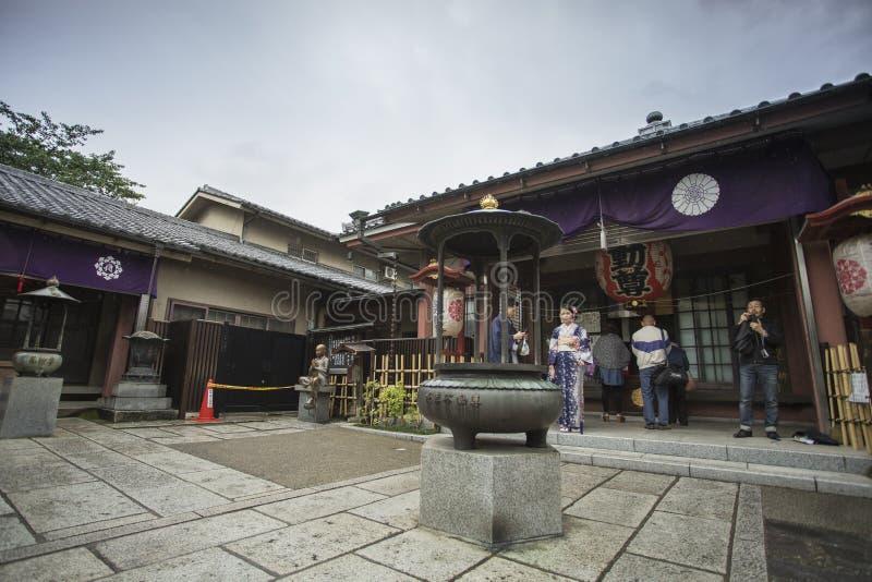 O templo de Senso-ji em Asakusa, Tóquio, Japão A palavra significa Kob fotos de stock royalty free