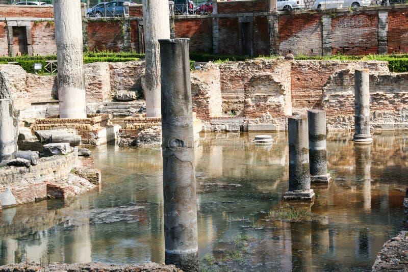 O templo de Serapide foto de stock