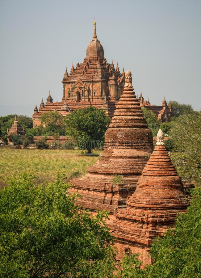 O templo de Sulamani, bagan, região de Mandalay, Myanmar imagens de stock