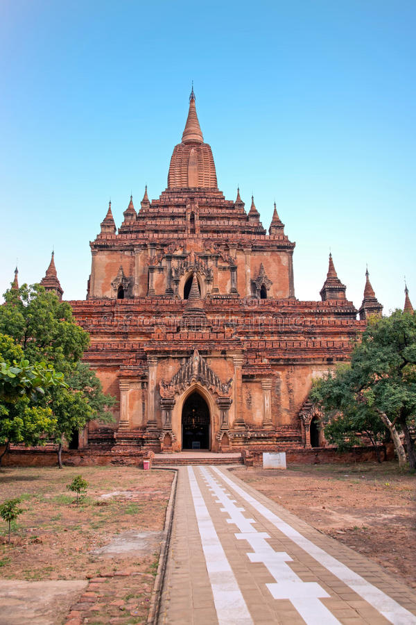 O templo de Sulamani em Bagan, Myanmar imagem de stock
