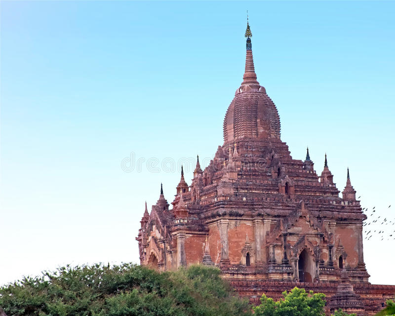O templo de Sulamani em Bagan, Myanmar imagem de stock royalty free