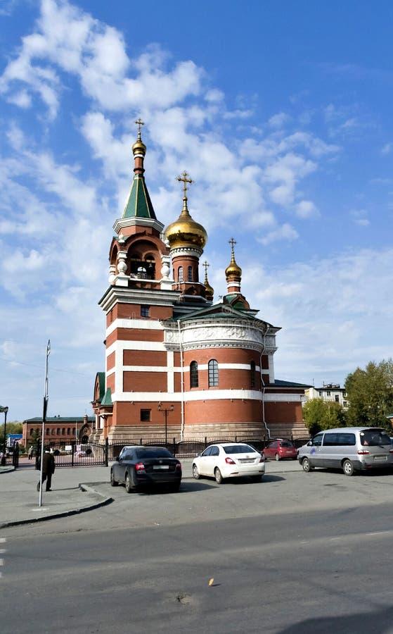 O templo do grande mártir santamente George The Victorious fotos de stock royalty free