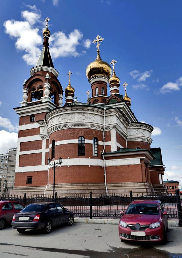 O templo do grande mártir santamente George The Victorious imagens de stock royalty free