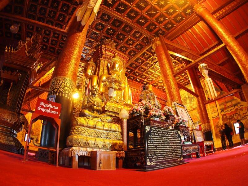 o templo do norte famoso de TAILÂNDIA WAT PHUMIN fotos de stock