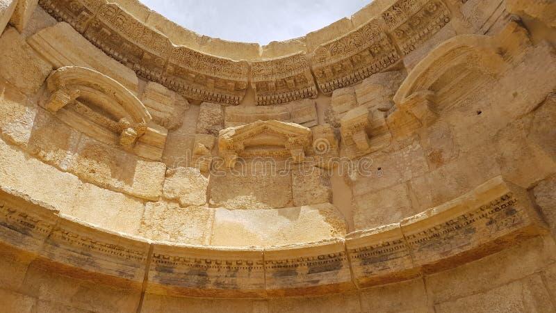 O templo do Vênus As ruínas da cidade romana de Heliopolis ou de Baalbek no Vale do Beqaa Baalbek, L?bano imagem de stock royalty free