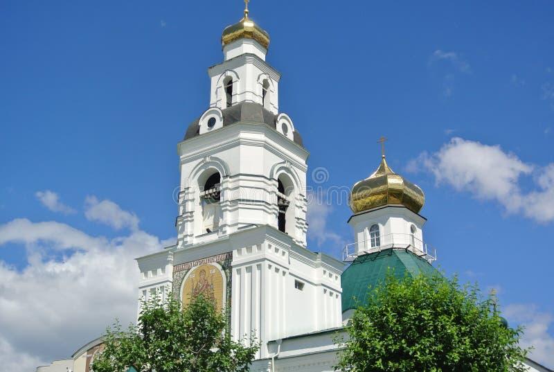O templo em honra da transfiguração do senhor Uktus, Ekaterinburg fotografia de stock royalty free