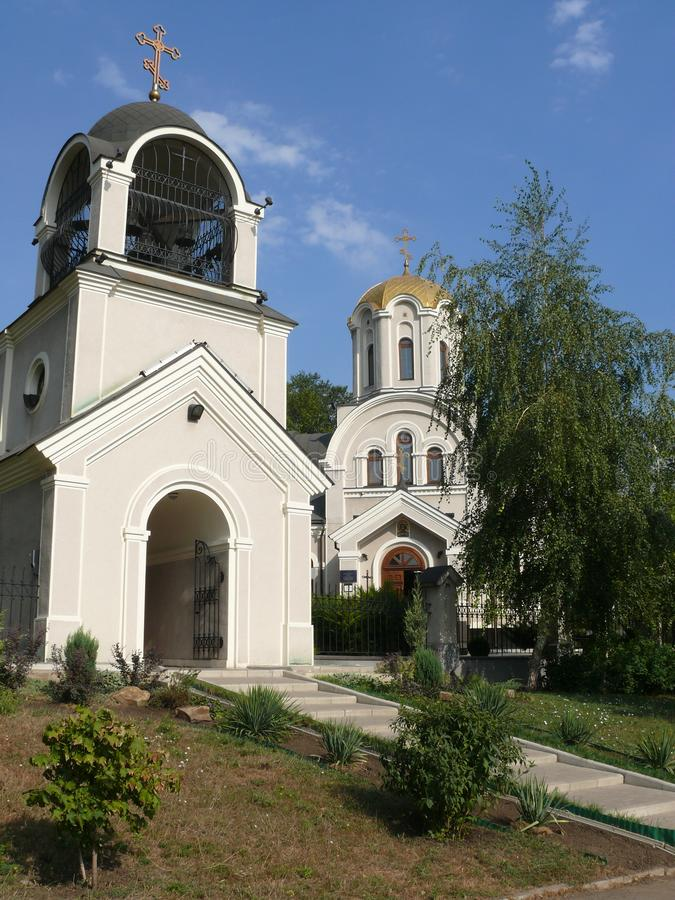O templo em honra de St Alexander Nevsky na cidade de Donetsk fotografia de stock royalty free