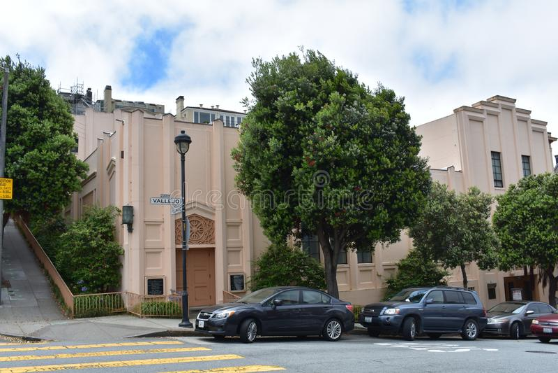 O templo hindu o mais velho no mundo ocidental, templo novo San Francisco, 2 imagens de stock royalty free