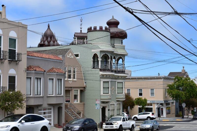 O templo hindu o mais velho no mundo ocidental, templo velho San Francisco, 4 fotos de stock royalty free