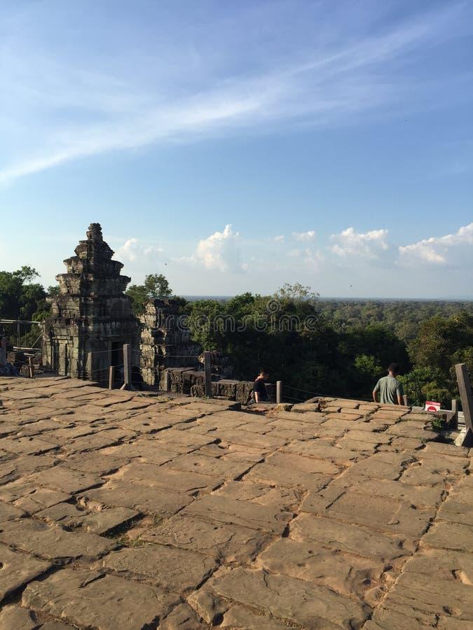 O templo na emenda colhe a província, Camboja foto de stock