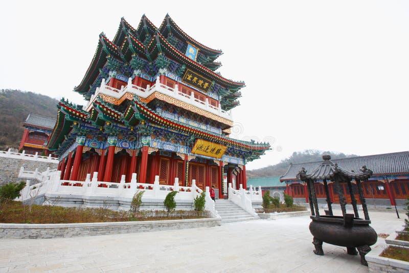 Templo chinês na montanha de tianmen imagem de stock