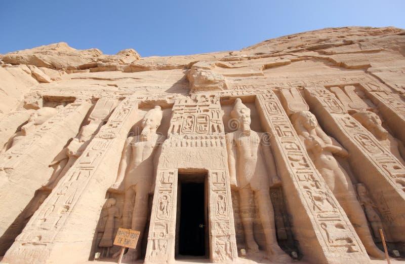 O templo pequeno de Nefertari Abu Simbel, Egipto foto de stock