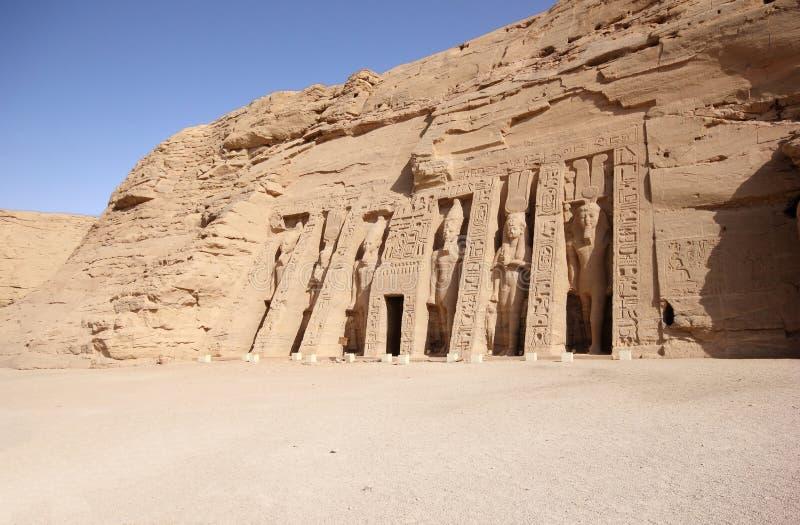 O templo pequeno de Nefertari Abu Simbel, Egipto fotografia de stock royalty free
