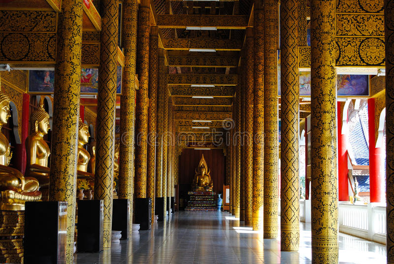 O templo santamente, o lugar perfeito a meditar foto de stock
