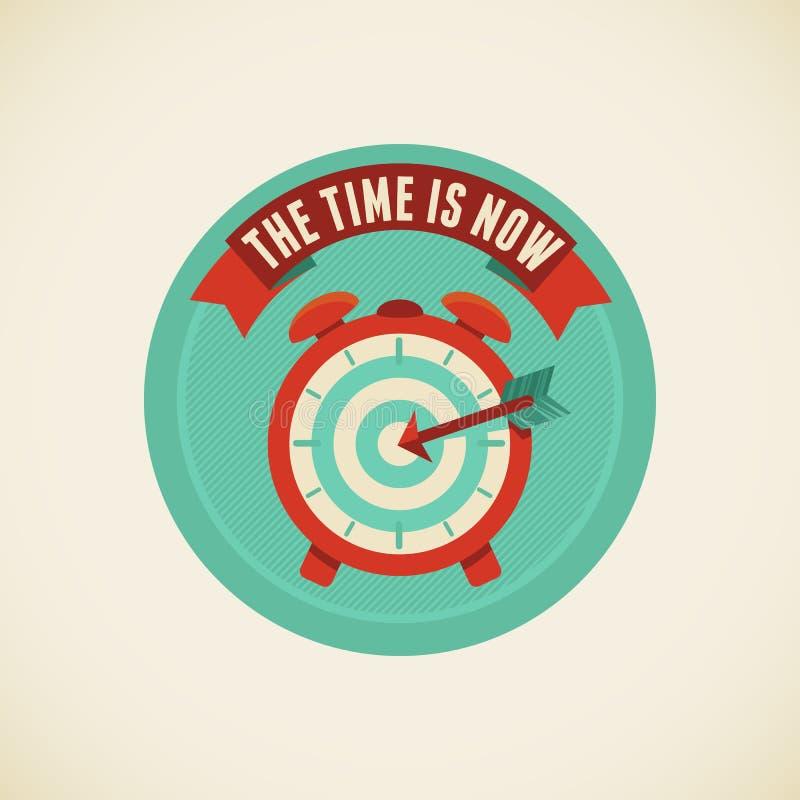O tempo é agora ilustração stock