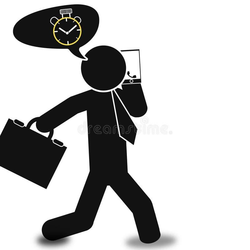 O tempo é cartaz da imagem do negócio do dinheiro, qualidade super ilustração stock