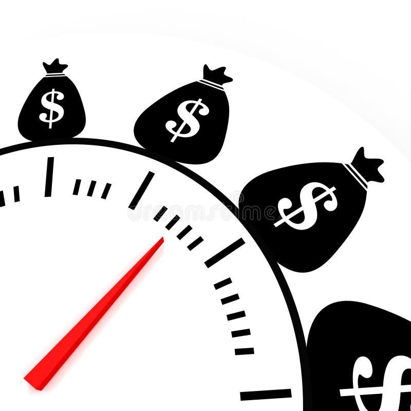 O tempo é money2 ilustração royalty free