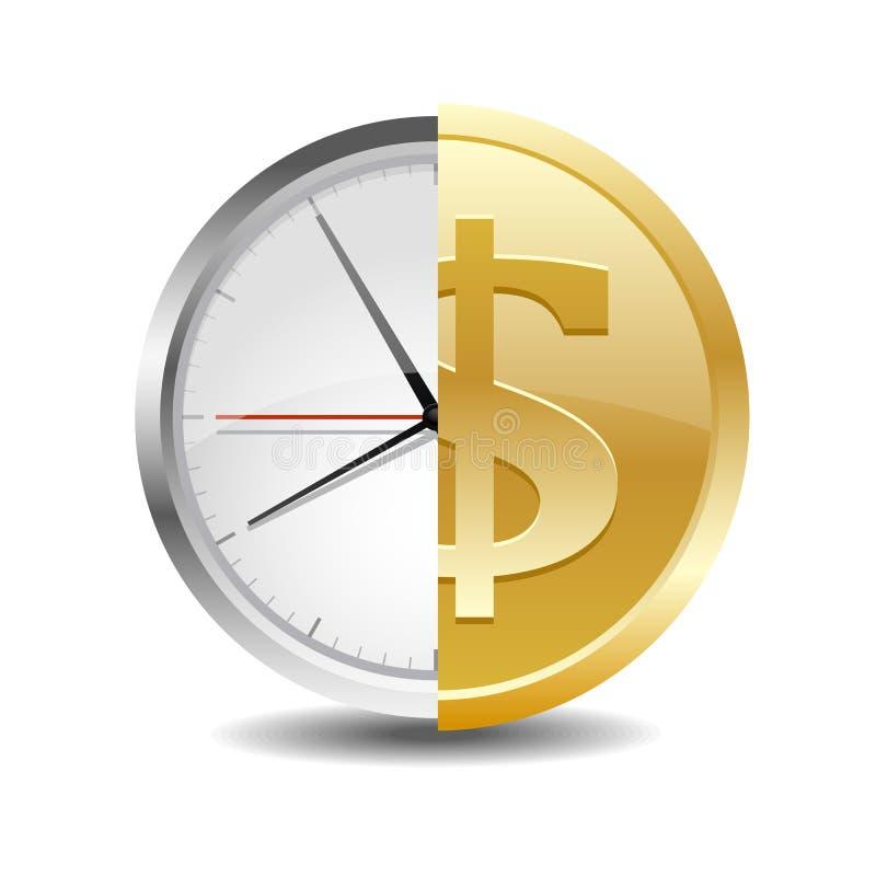 O tempo é money2 ilustração do vetor