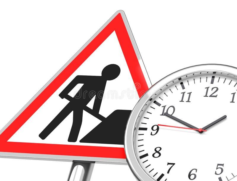 O tempo de funcionamento ilustração do vetor