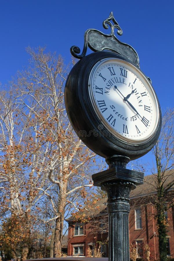 O tempo está ainda em Nashville, DENTRO fotografia de stock