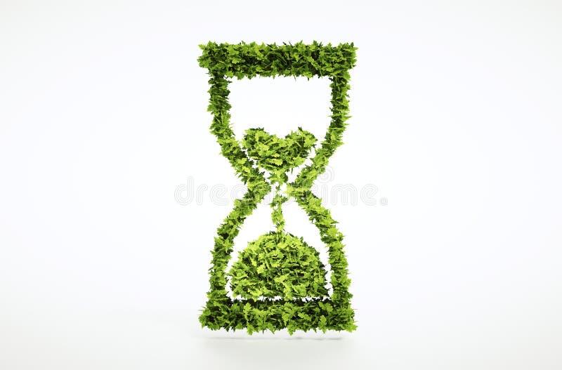 O tempo está correndo para fora o conceito ilustração royalty free