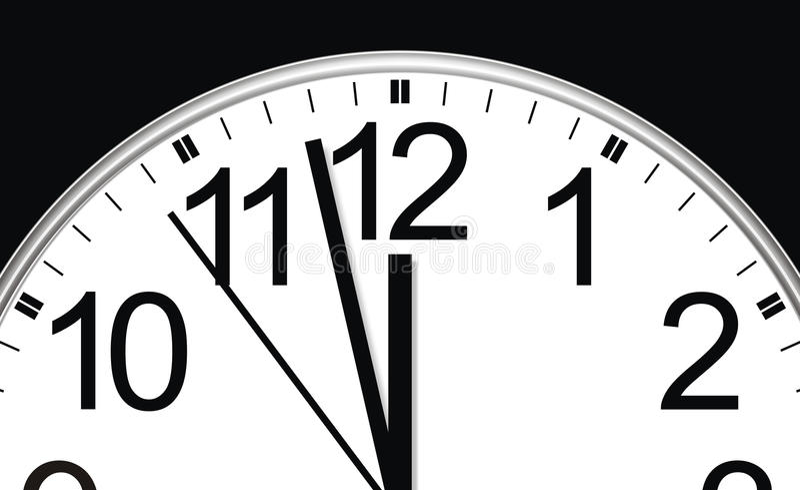 O tempo está funcionando ilustração stock