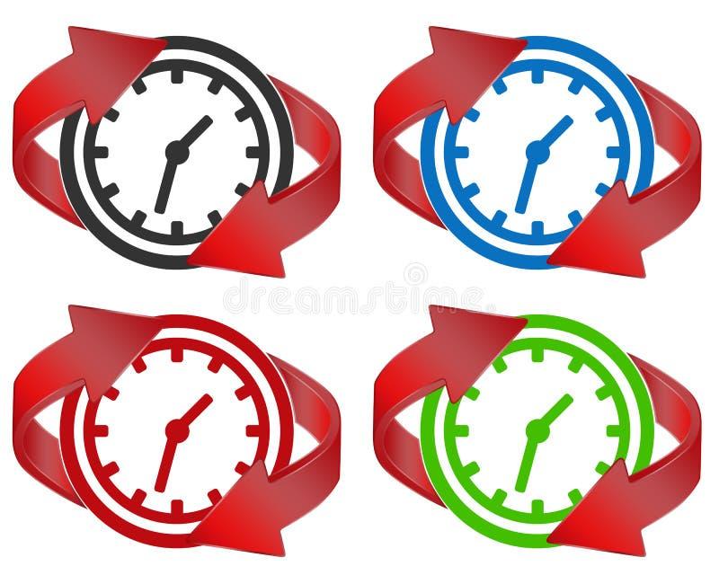 O tempo renova ilustração royalty free