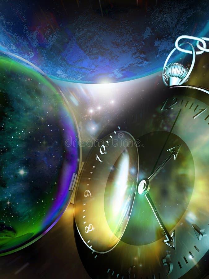 O tempo vai perto ilustração stock