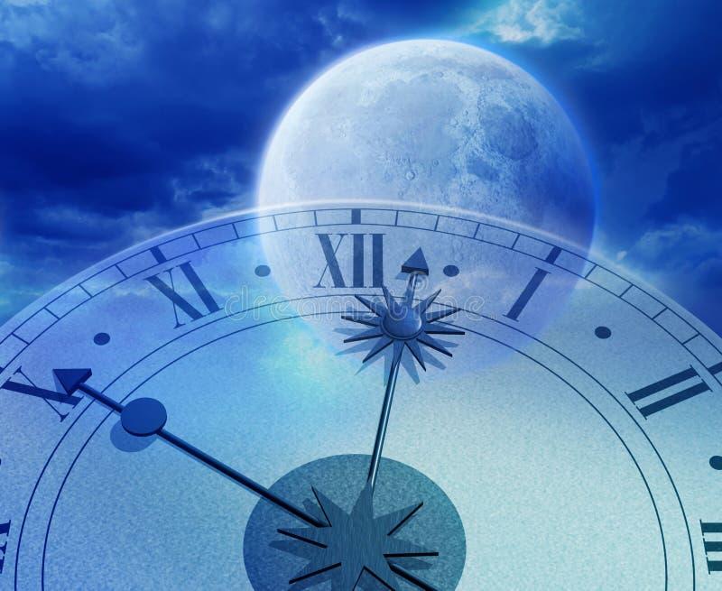 O tempo voa ilustração do vetor