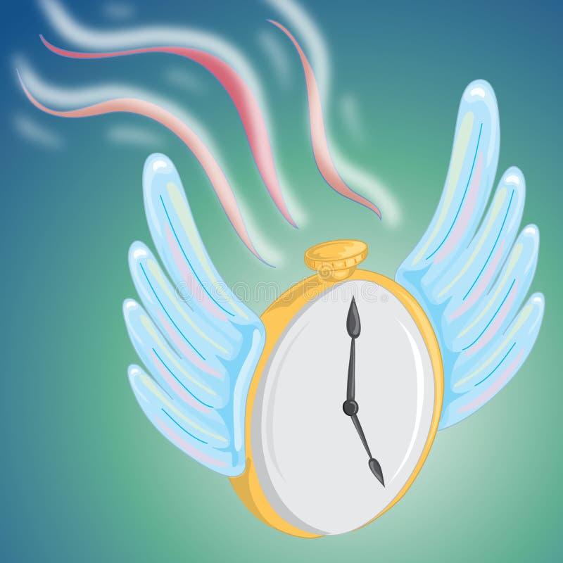 O tempo voa ilustração royalty free