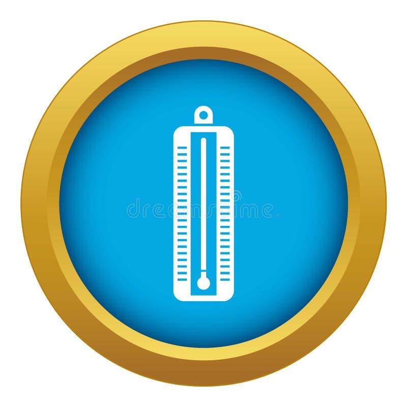 O term?metro indica o vetor azul do ?cone da baixa temperatura isolado ilustração stock