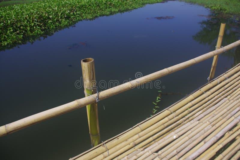 O terraço de bambu fotos de stock royalty free